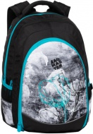 Studentský batoh Digital 20 B TURQUOISE/GRAY/BLACK