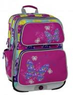 b6129e1a276 Dívčí školní batoh Bagmaster Galaxy 6 B Pink Blue Yellow