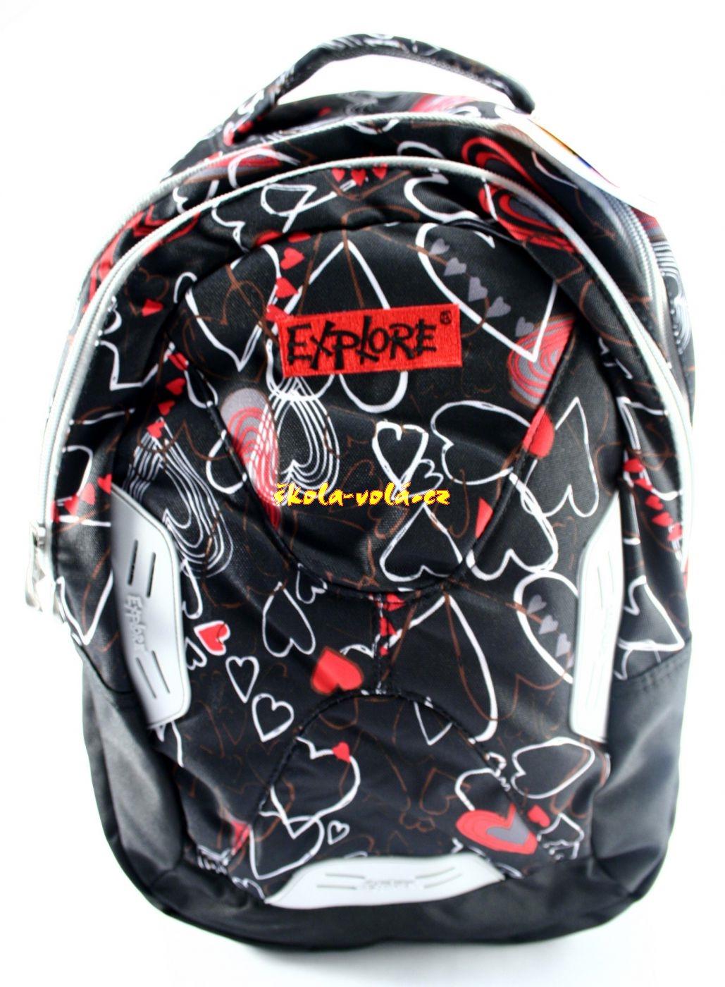 Školní batoh Explorer 2v1 srdce  257c83339f