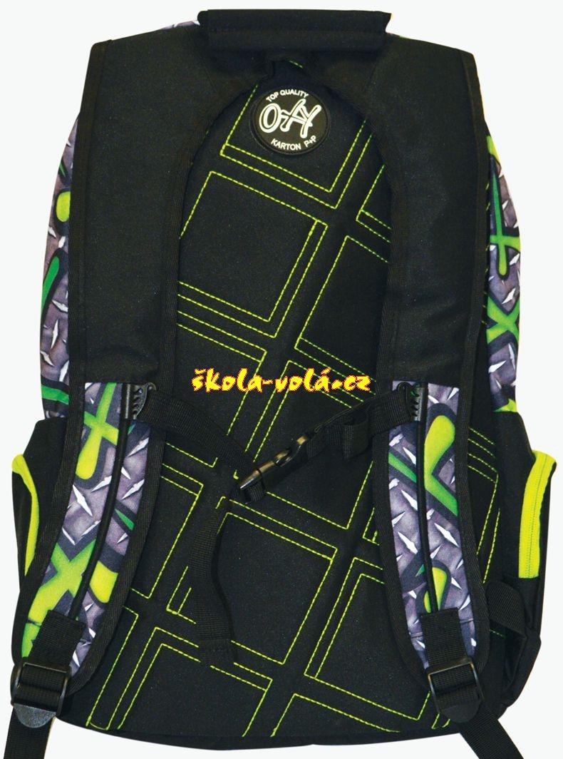 Studentský batoh OXY SPORT Green Iron - zvětšit obrázek. Zvětšit obrázek.  detail 4b8e71afeb