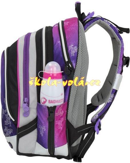 Dívčí školní batoh pro prvňáčky Bagmaster Alfa 6 B Black Pink Violet ... c5ede143f5