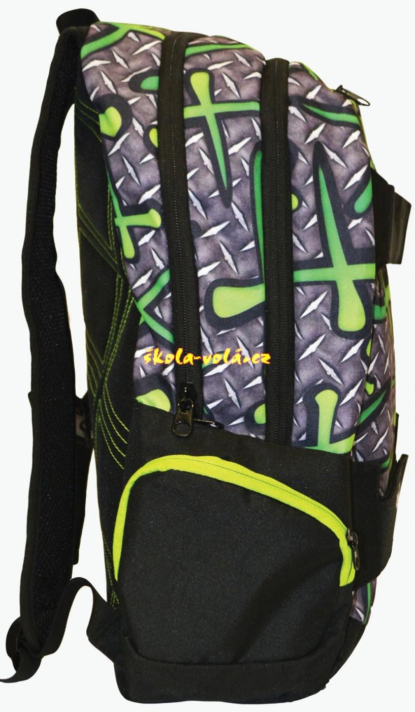 Studentský batoh OXY SPORT Green Iron - zvětšit obrázek. Zvětšit obrázek.  detail. detail 852948e04b